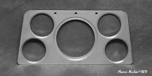 60/61 GMC Truck Five Gauge Insert panel