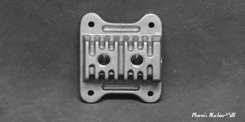 Cast Aluminum Two Port Fuel Block