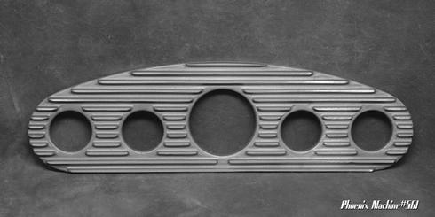 3 3/8 Five Gauge Cast Aluminum Hot Rod Panel