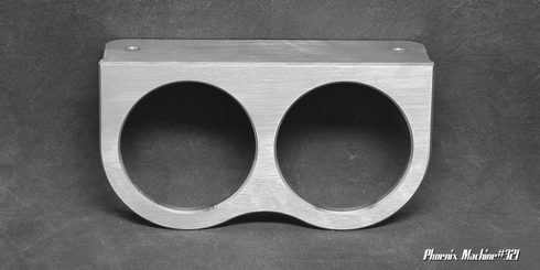 2 5/8   Two Gauge Brushed Underdash Mount