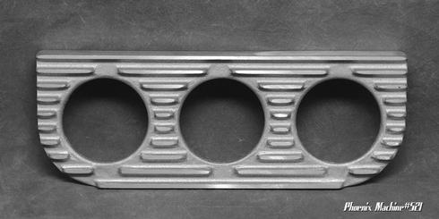 2 5/8   Three Gauge Cast Aluminum Underdash Mount