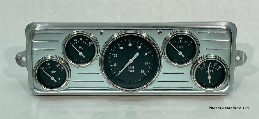 39 Chevrolet Car Five Gauge Panel