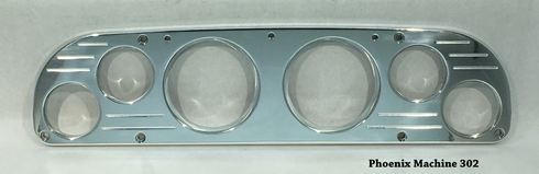 57-60 Ford Truck  3 3/8  Six Gauge Panel